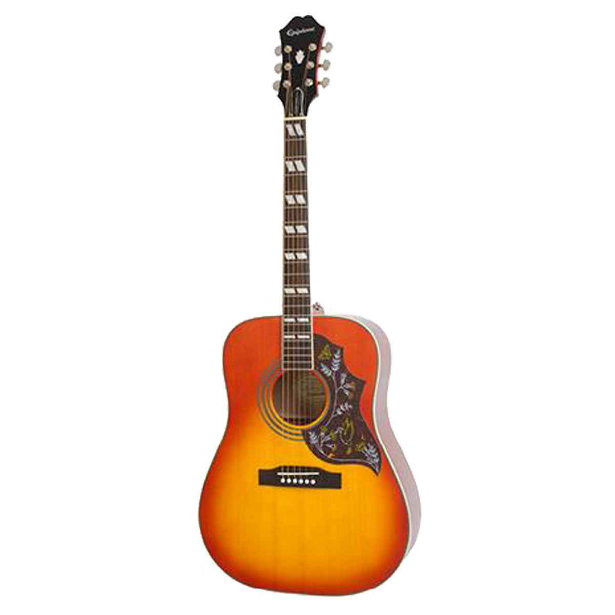 Epiphone Hummingbird Pro Acoustic Guitar Faded Cherry w/ Pickup - EEHBFCNH1