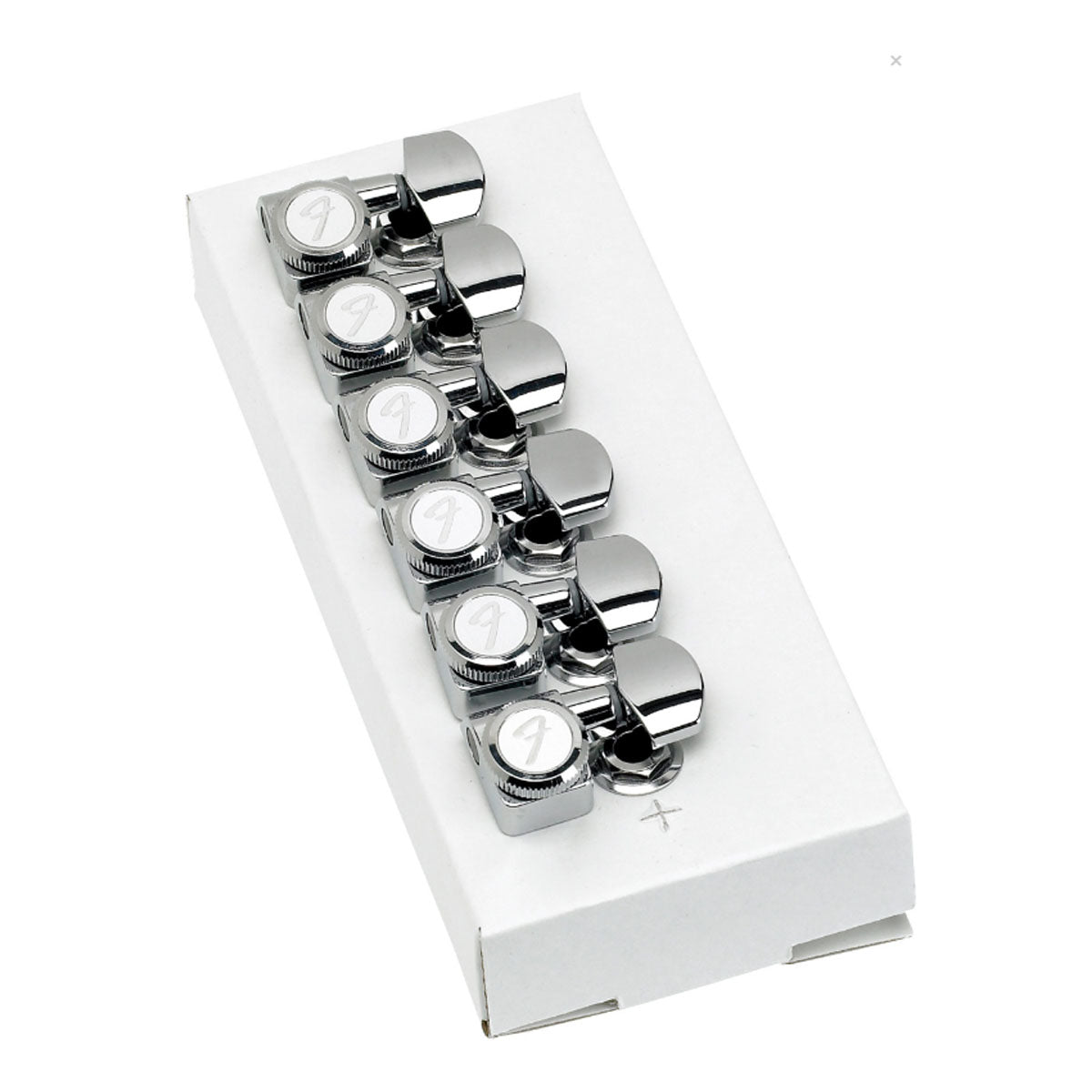 Fender Locking Tuners Polished Chrome - Stratocaster/Telecaster Tuning Machines (6 Pack) - 0990818100