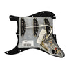 Fender Pre-Wired Strat Pickguard, Vintage Noiseless SSS, Black 11 Hole PG - 0992344506