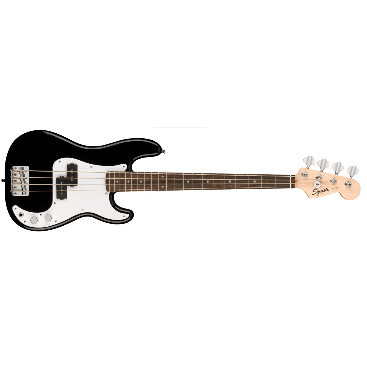 Fender Squier Mini Precision Bass Guitar 3/4 Size Black - 0370127506