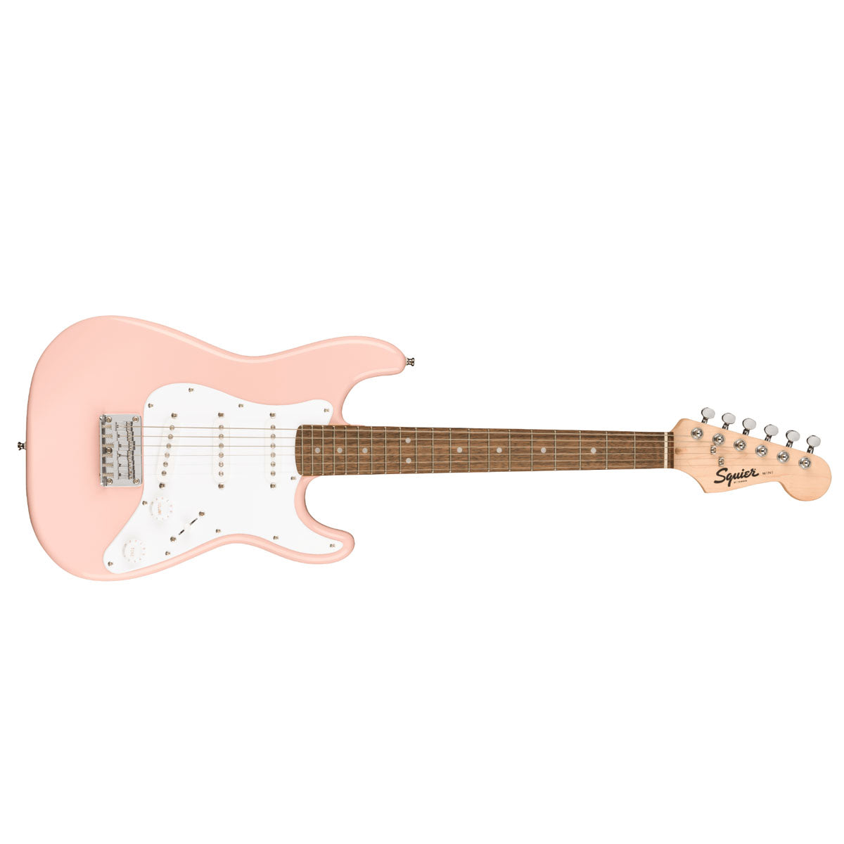 Fender Squier Mini Stratocaster Electric Guitar 3/4 Size Shell Pink - 0370121556