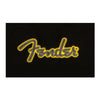 Fender Yellow Stitch Logo Hoodie, Black L Large - 9190126506