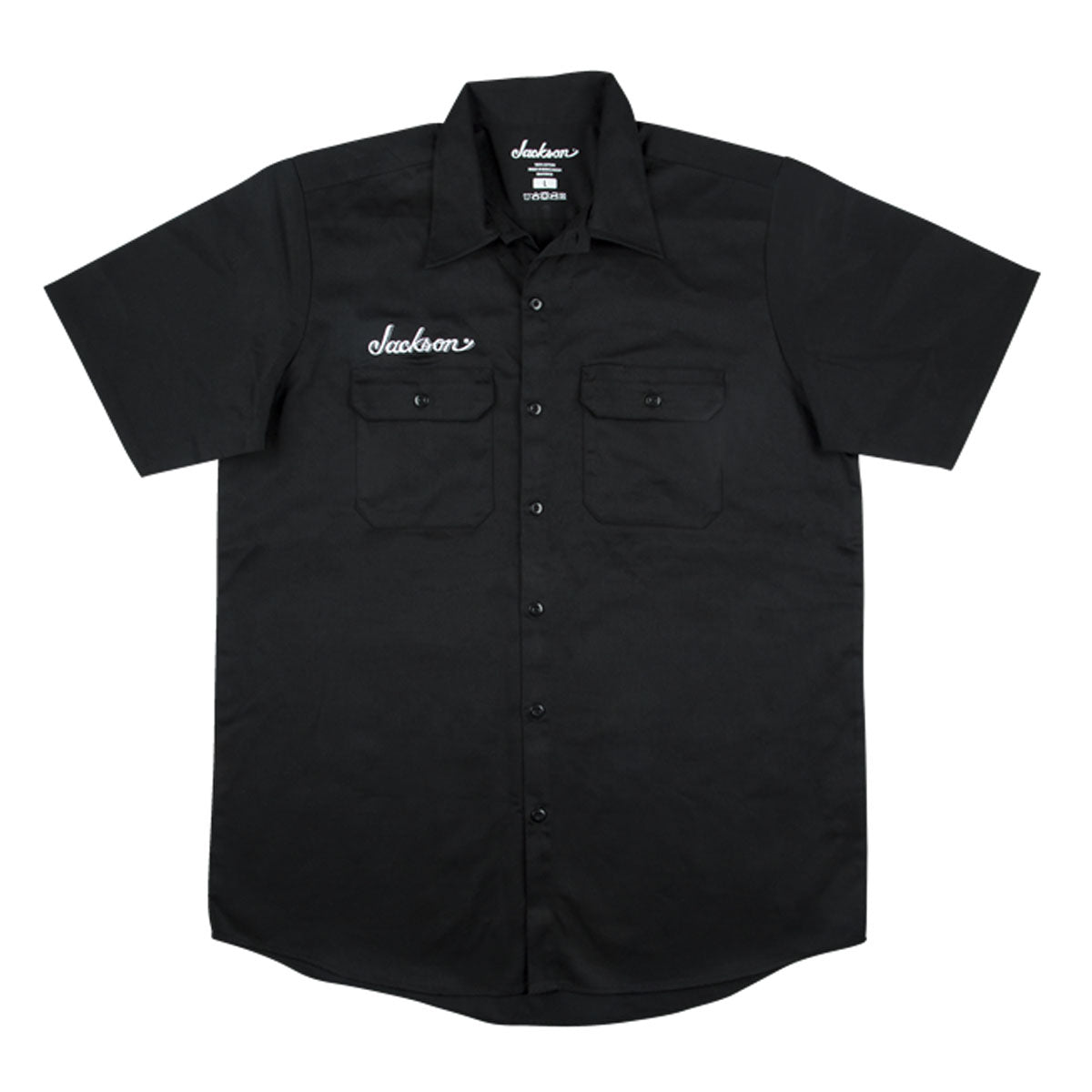 Jackson Logo Mens Work Shirt, Black, M Medium - 2999578506