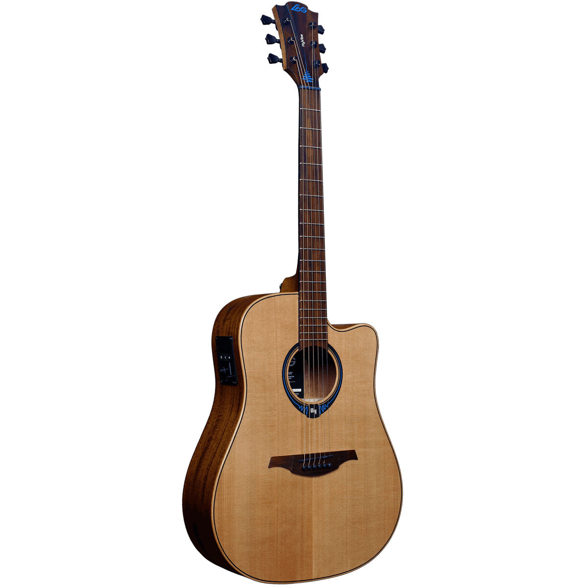 Lag Tramontane Hyvibe 10 THV10DCE Acoustic Guitar Dreadnought Solid Cedar Top w/ Pickup