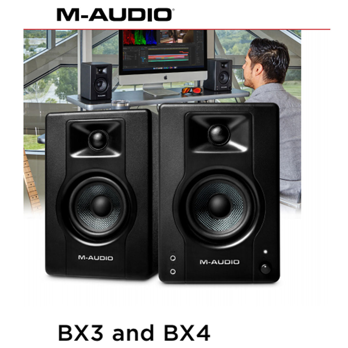 M-Audio BX4 D3 Powered Studio Monitors Speakers 4inch (Pair)
