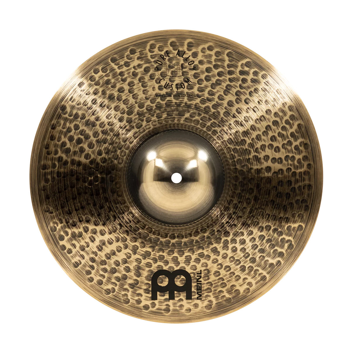 Meinl 15MTH Pure Alloy Custom 15inch Medium Thin Hi-Hats Cymbals
