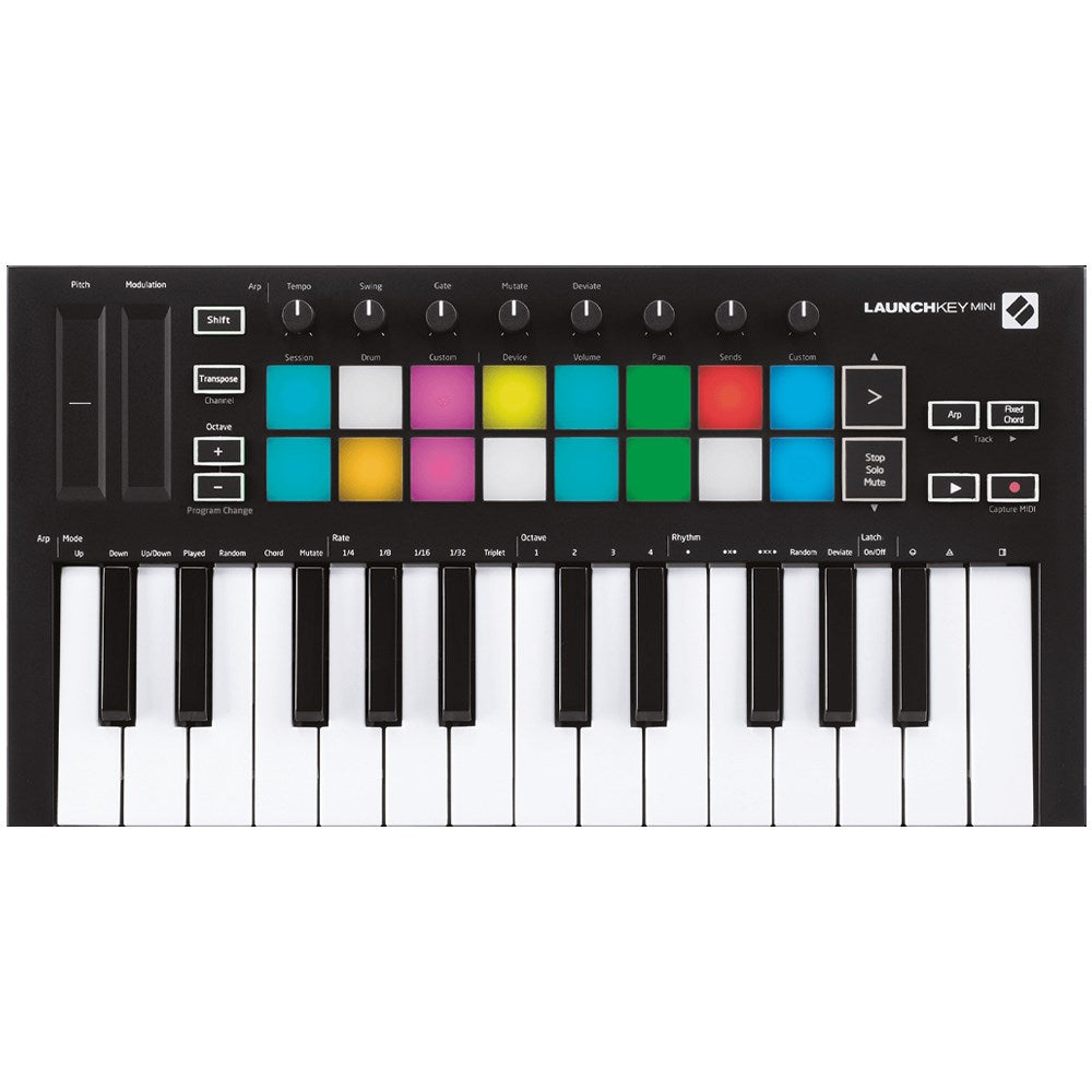 Novation LaunchKey Mini Mk3 USB & iOS Controller 25-Key