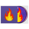 Serato Control Vinyl 2x12inch Reversible Emoji (two designs per set) Series 2 Flame/Record