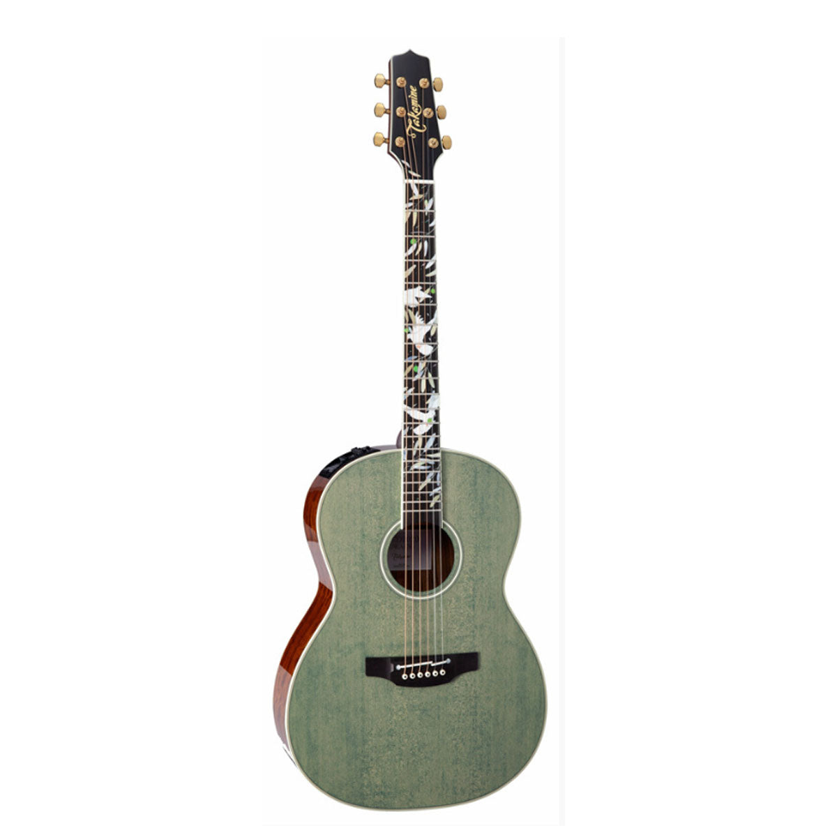 Takamine LTD2020 Peace Acoustic Guitar Limited Edition Foliage Green w/ Pickup