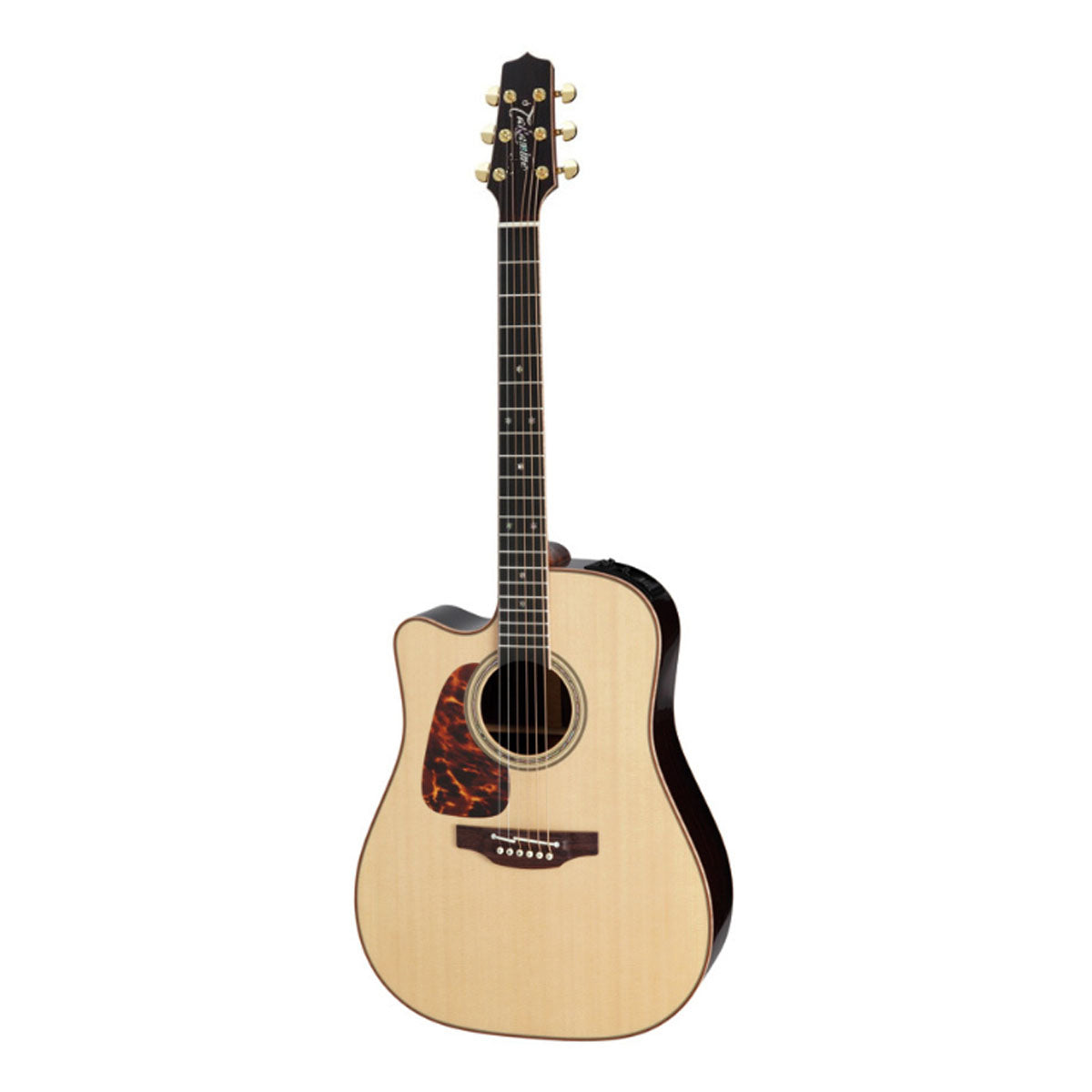 Takamine P7DC Pro Series 7 Acoustic Guitar Left Handed Dreadnought Natural w/ Pickup