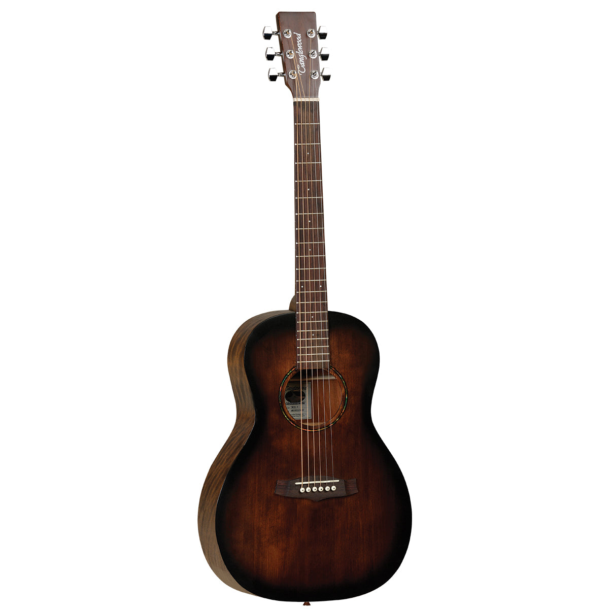 Tanglewood Crossroads Acoustic Guitar Parlour Whiskey Barrel Burst Satin