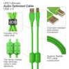 UDG Ultimate U95001 USB2 Cable A-B Green Straight 1m