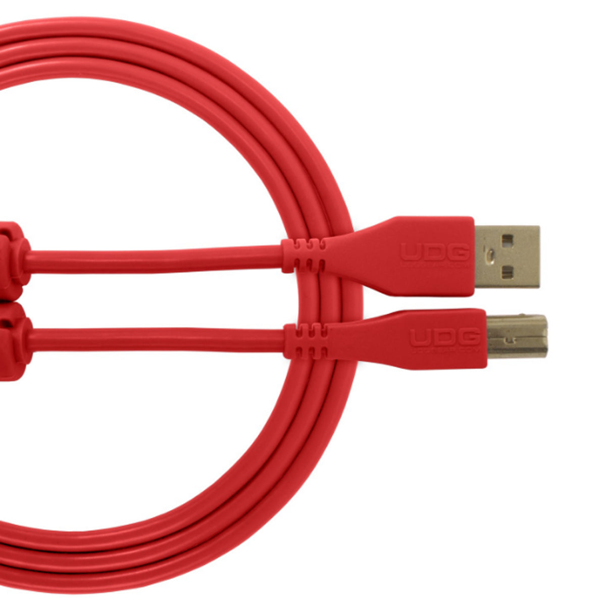 UDG Ultimate U95001 USB2 Cable A-B Red Straight 1m