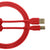 UDG Ultimate U95003 USB2 Cable A-B Red Straight 3m