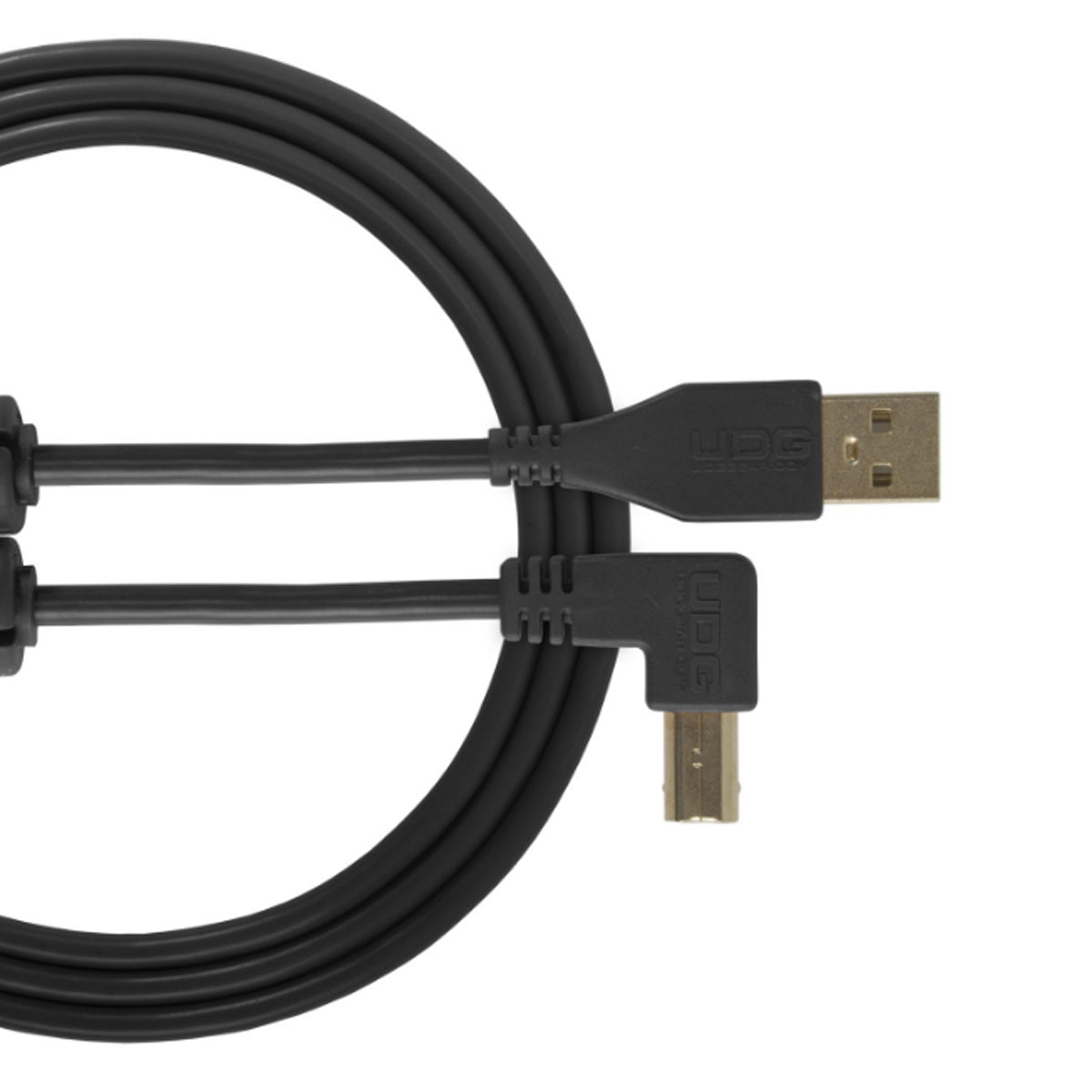 UDG Ultimate U95005 USB2 Cable A-B Black Angled 2m