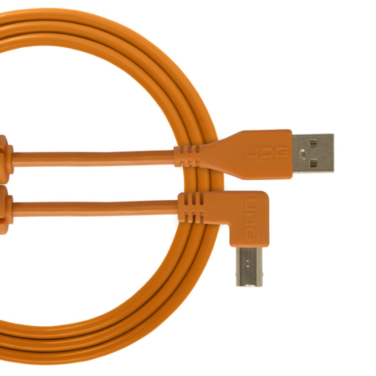 UDG Ultimate U95004 USB2 Cable A-B Orange Angled 1m