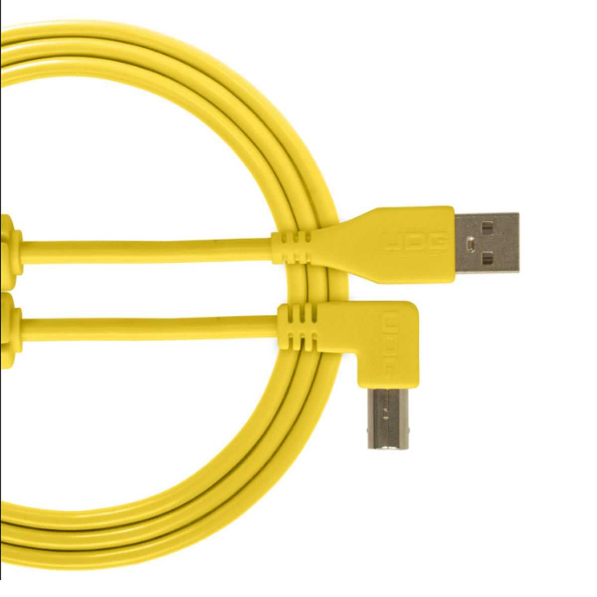 UDG Ultimate U95004 USB2 Cable A-B Yellow Angled 1m