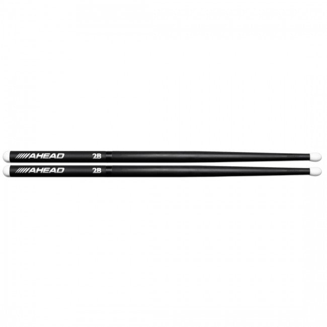 Ahead 2B Long Taper Aluminium Nylon Tip Drumsticks Pair AH-2B