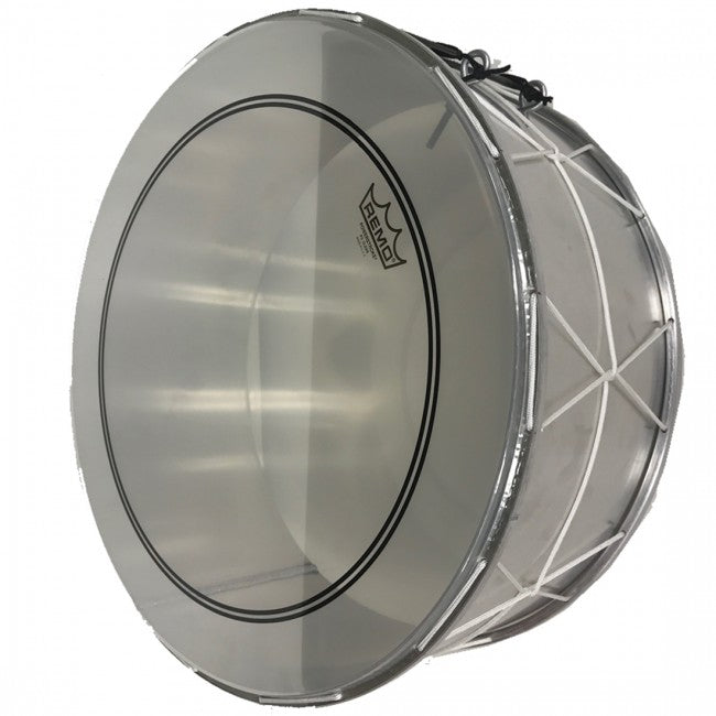 Arabic Lebanese Middle Eastern Bass Drum Tuble Tubla Tableh 18'' With Sticks Silver - ALUMINIUM