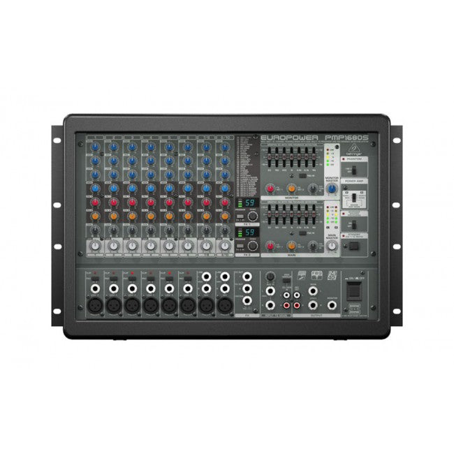 Behringer PMP1680S  EUROPOWER 1600-Watt 10-Channel Powered Mixer with Dual Multi-FX Processor and FBQ Feedback Detection System