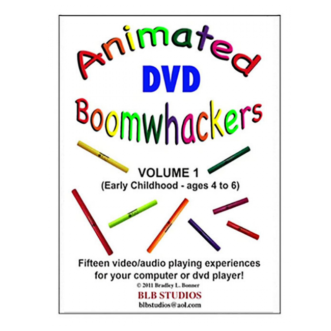 Boomwhackers Animated Boomwhackers Volume 1 DVD
