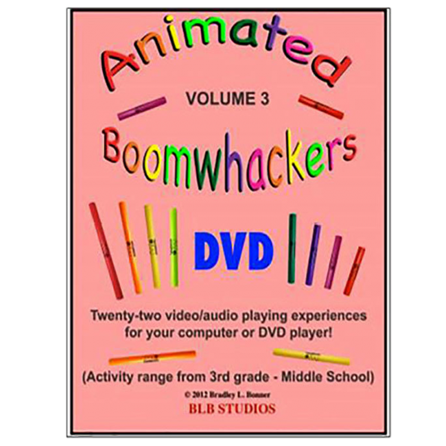 Boomwhackers Animated Boomwhackers Volume 3 DVD