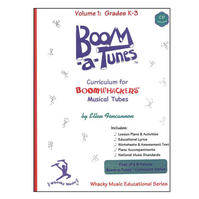 Boomwhackers Boom-A-Tunes Volume 1 Curriculum Book/CD
