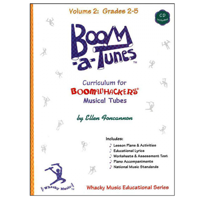 Boomwhackers Boom-A-Tunes Volume 2 Curriculum Book/CD
