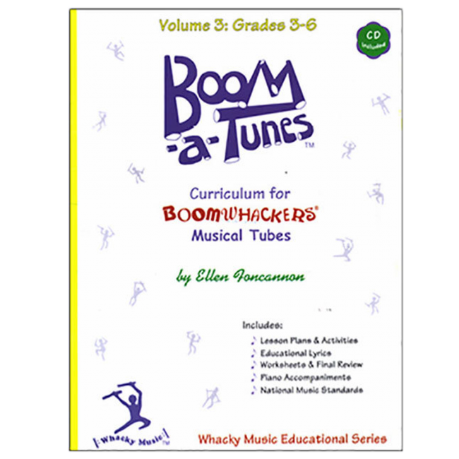 Boomwhackers Boom-A-Tunes Volume 3 Curriculum Book/CD