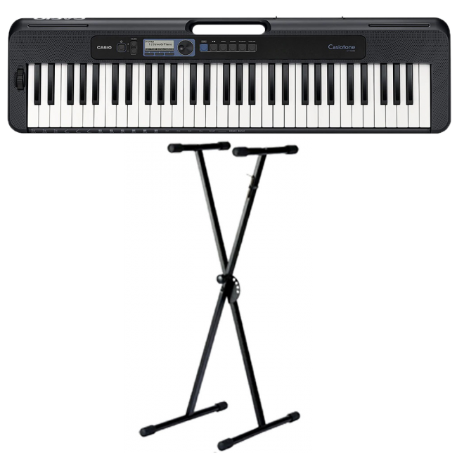 Casio CT-S300 Casiotone Digital Keyboard Black w/ Stand
