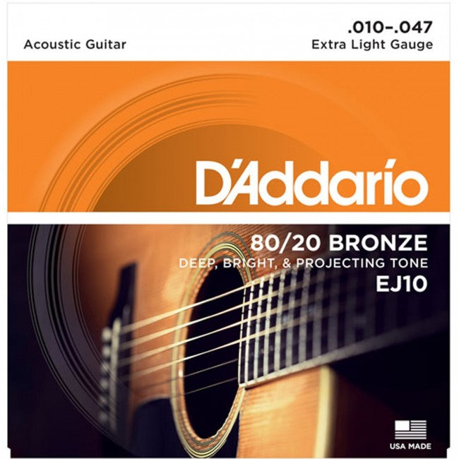 D'Addario EJ10-3D Acoustic Guitar Strings