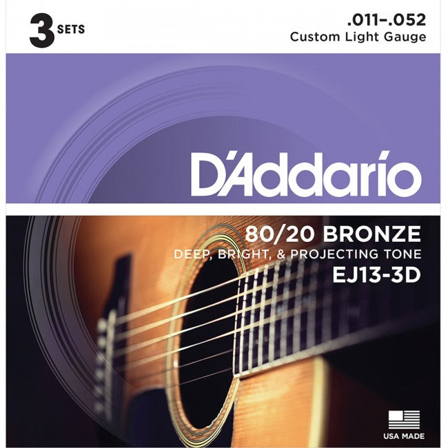D'Addario EJ13-3D Acoustic Guitar Strings