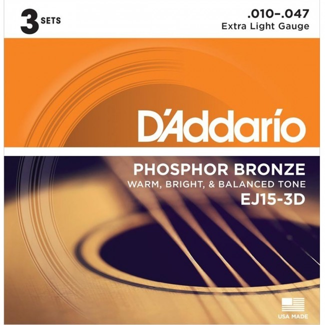 D'Addario EJ15-3D Acoustic Guitar Strings