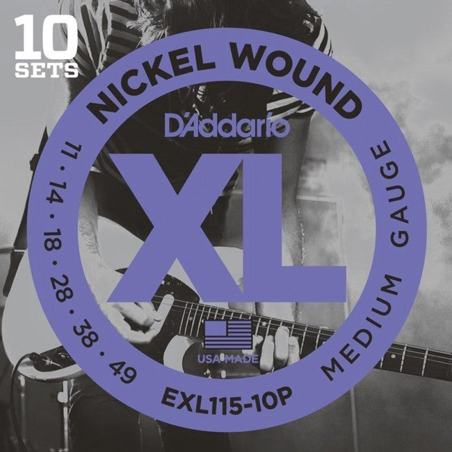 D'Addario EXL115-10P Electric Guitar Strings