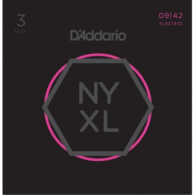 3 Pack of D'Addario NYXL0942 Electric Guitar Strings