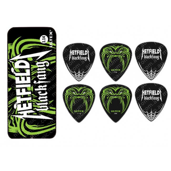 Dunlop James Hetfield Pick Tin Pack 0.73 Signature JSA81
