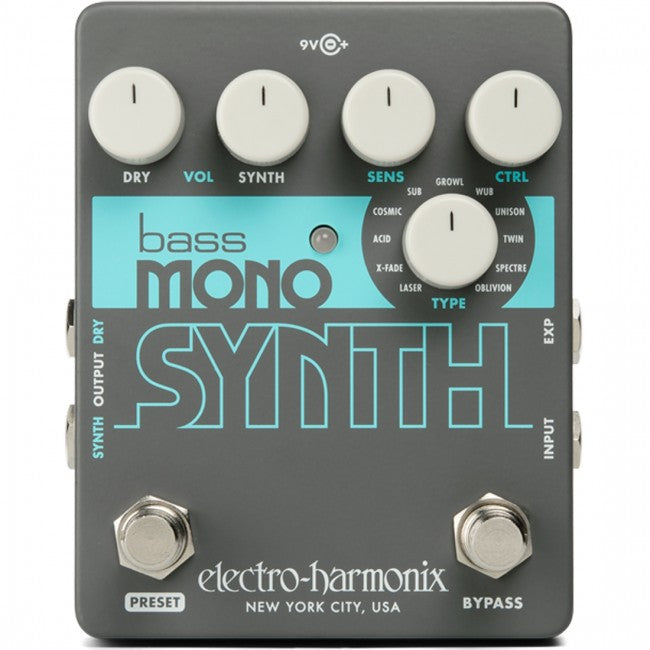 EHX Bass Mono Synth Effects Pedal