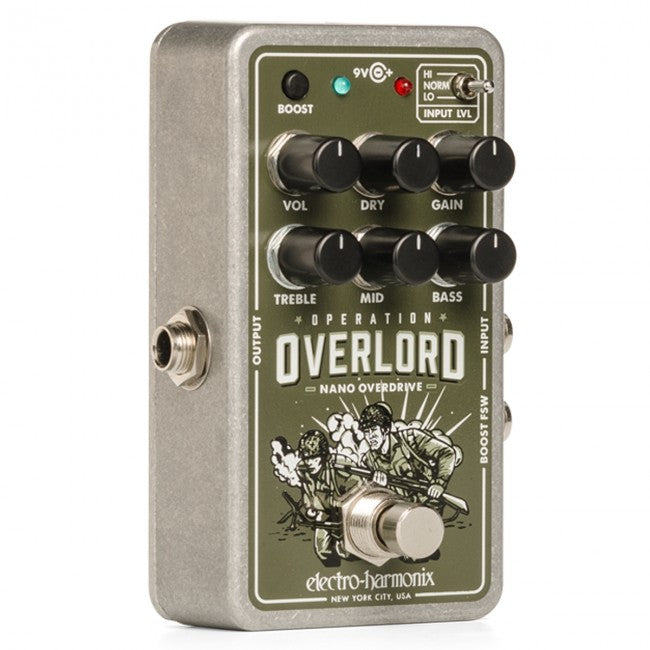 Electro-Harmonix EHX Nano Operation Overlord Allied Overdrive Effects Pedal