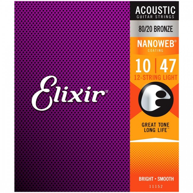Elixir 11152 Acoustic 12-String Guitar Strings