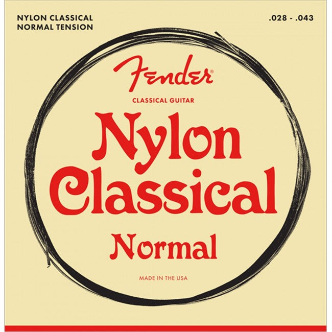 Fender 100 Clear/Silver Nylon Guitar Strings Normal