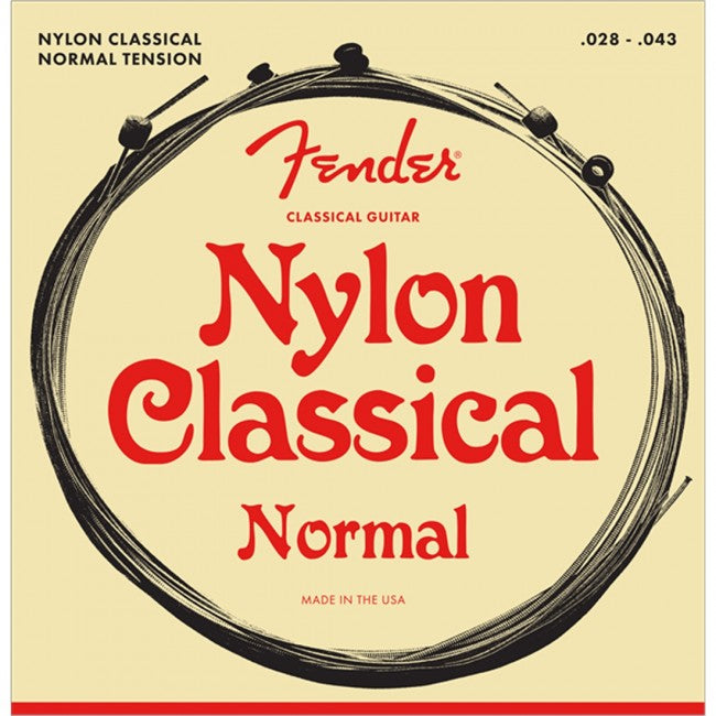 Fender 130 Clear-Silver Nylon Guitar Strings Normal