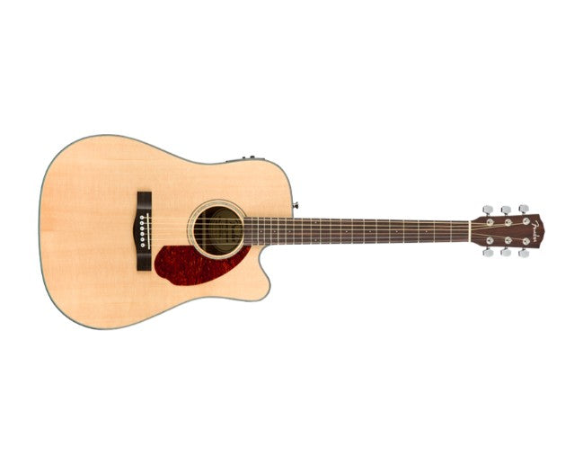 Fender CD-140SCE Acoustic Guitar Dreadnought Natural w/ Cutaway, Pickup & Case - 0970213321