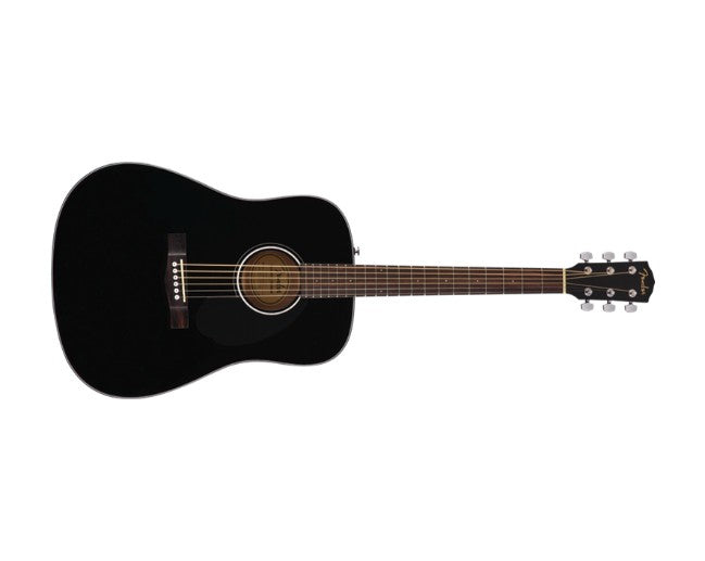 Fender CD-60S Acoustic Guitar Black Dreadnought Solid Top - 0970110006