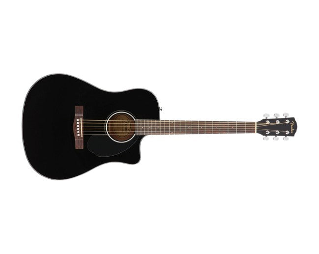 Fender CD-60SCE Acoustic Guitar Black Dreadnought w/ Pickup - 0970113006