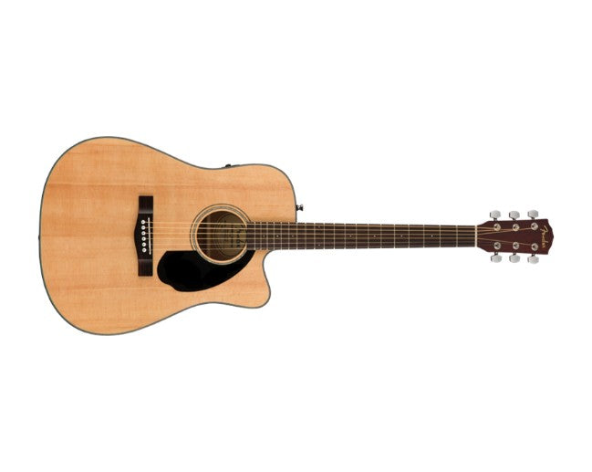 Fender CD-60SCE Acoustic Guitar Natural Dreadnought Solid Cutaway Electric - 0970113021