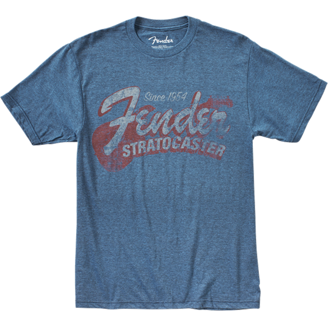 Fender Since 1954 Strat T-Shirt Blue XL - 9101290687