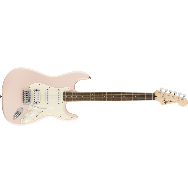 Fender Squier Bullet Stratocaster Electric Guitar HSS FAT Shell Pink w/ Tremolo - 0370005556