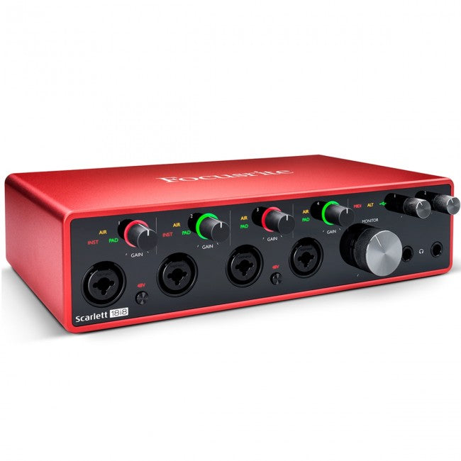 Focusrite Scarlett 18i8 USB Audio Interface (Generation 3) 18-in/8-out