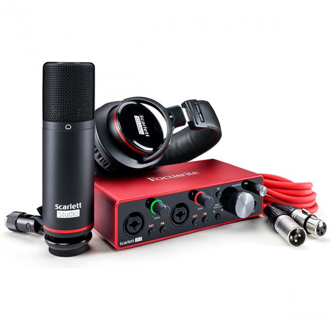 Focusrite Scarlett 2i2 Studio USB Audio Interface (Generation 3) 2-in/2-out w/ Mic & Headphones