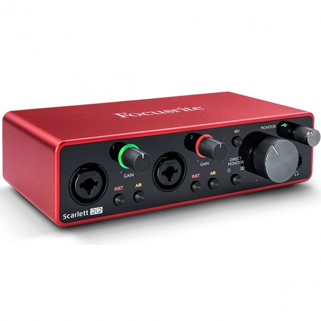 Focusrite Scarlett 2i2 USB Audio Interface (Generation 3) 2-in/2-out